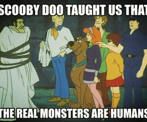 monster, humans, and scooby doo image