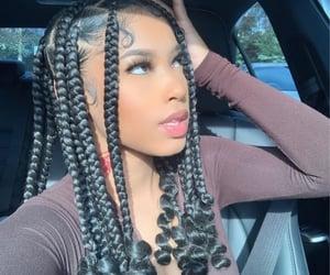 hair, brads, and box braids image
