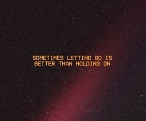 quotes, kiss, and letting go image