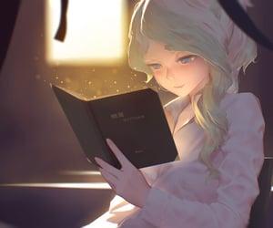 anime, digitalart, and reading image