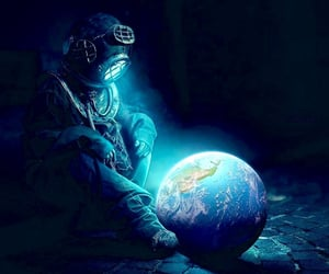 earth, planet, and art image
