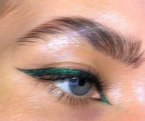 eyeliner, green, and beauty image