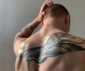 back, bald, and style image