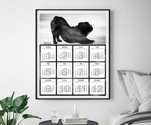 etsy, dog art print, and office calendar image