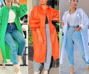 blouse, hijab fashion, and tunic image