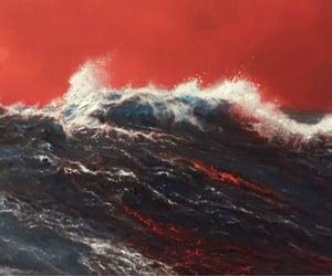 dark, grunge, and red image