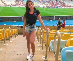 football, futebol, and lady image