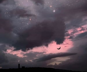 sky, moon, and aesthetic image