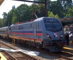 pennsylvania, trains, and septa image