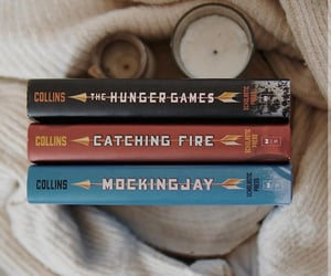 book, katniss, and hunger games image