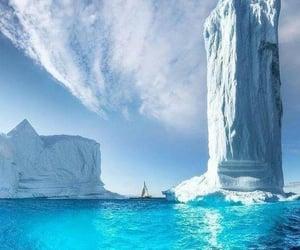 iceberg, nature, and winter image