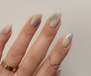 nails, art, and ring image