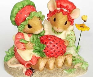 archive, strawberry, and mice image