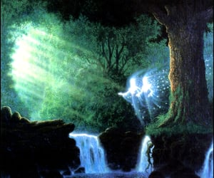 visionary art, by gilbert williams, and guardians of the grove image