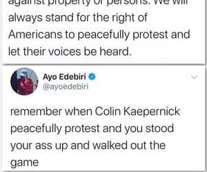 colin kaepernick and peaceful protest image