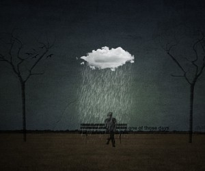 rain, clouds, and alone image