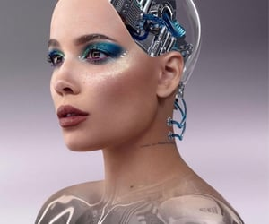 aesthetic, makeup, and robot image
