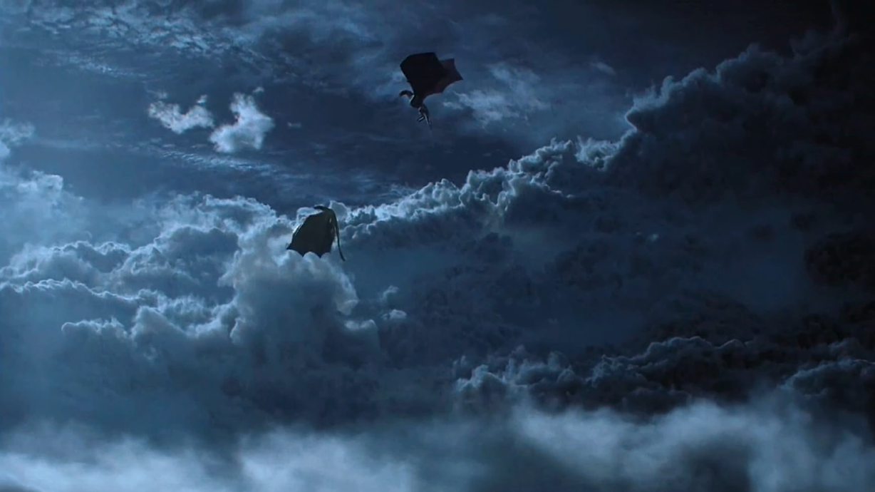dragon, sky, and game of thrones image