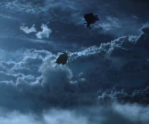 game of thrones, dragon, and sky image