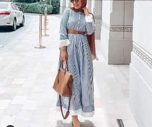light blue hijab dress image