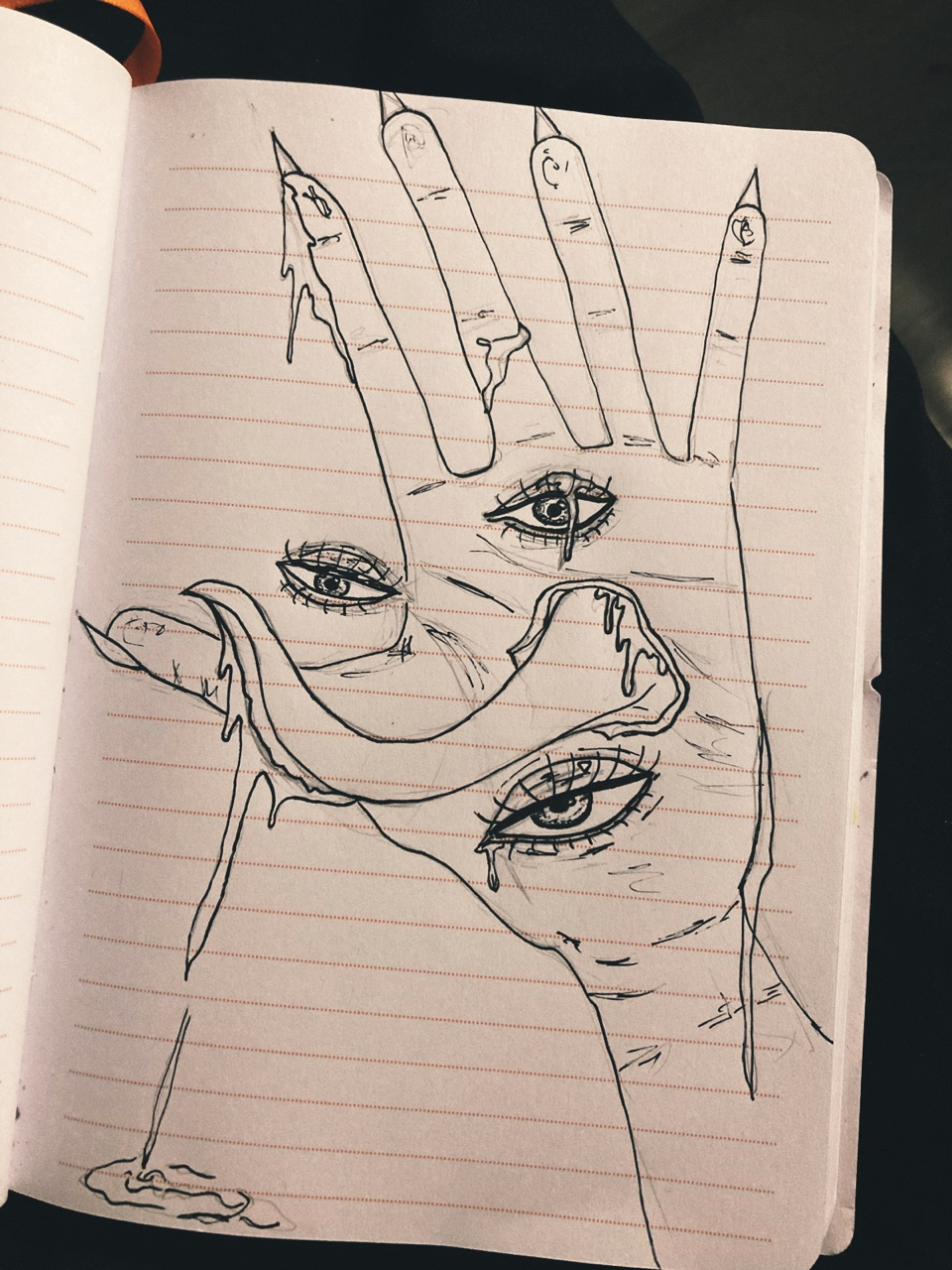 alone, art, and hand image
