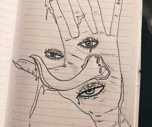 alone, art, and eye image