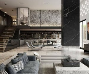 architecture, couch, and home design image