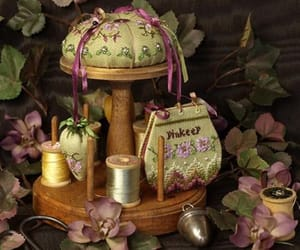 aesthetic, floral, and needlework image