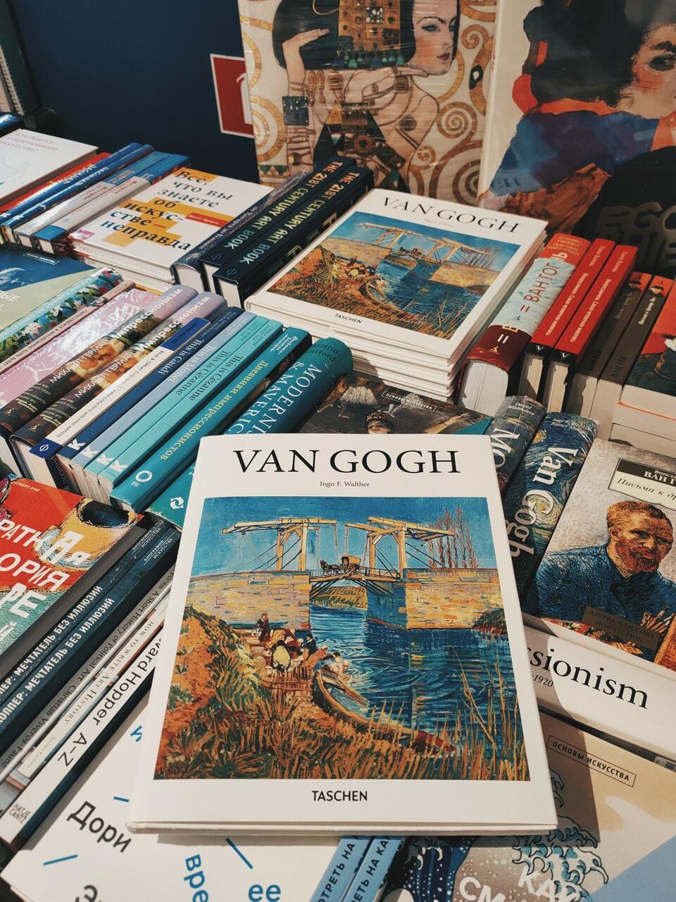 art, library, and van gogh image