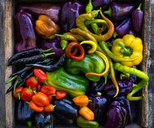 peppers, vegetables, and purple image