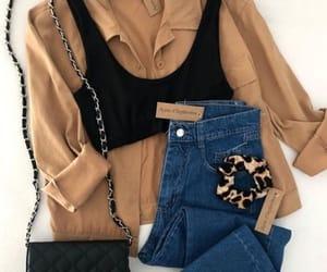 beige, chemise, and shirt image