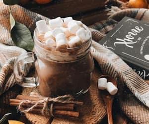 autumn, nature, and hot chocolate image
