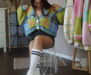 etsy, chunky cardigan, and cropped cardigan image