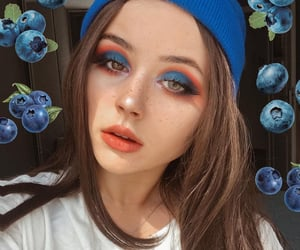 berries, make up, and blue image