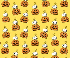 Halloween, snoopy, and yellow image