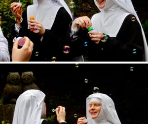 bubbles, nun, and adorers image