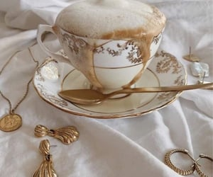 coffee, drink, and gold image