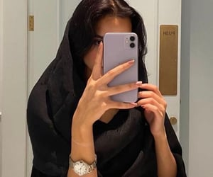 arab, black outfit, and voga image