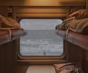 train, travel, and ocean image