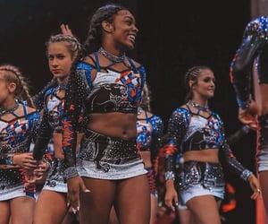 cheer, cheerleader, and diamonds image