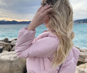 beach, wavy hair, and blonde image
