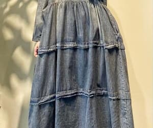 dress with pockets, retro long dress, and oversized dress image