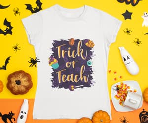 etsy, gift for teacher, and halloween tee image