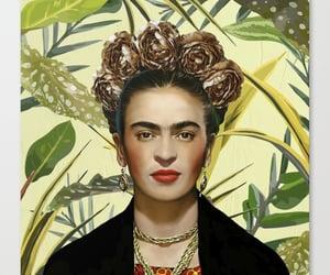 art prints, flowers, and frida kahlo image