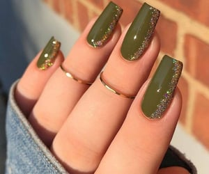 nails, green, and hands image