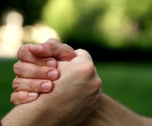hand holding, men, and guy friends image