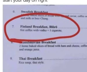 start your day right, finland knows what's up, and breakfast of champions image