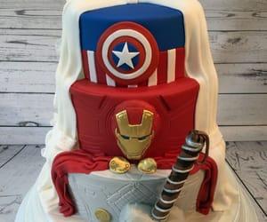 Avengers, cake, and wedding cake image