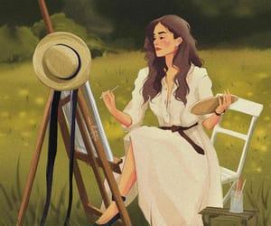 artist, fashion, and illustration image