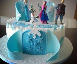 disney, frozen cake, and disney cake image